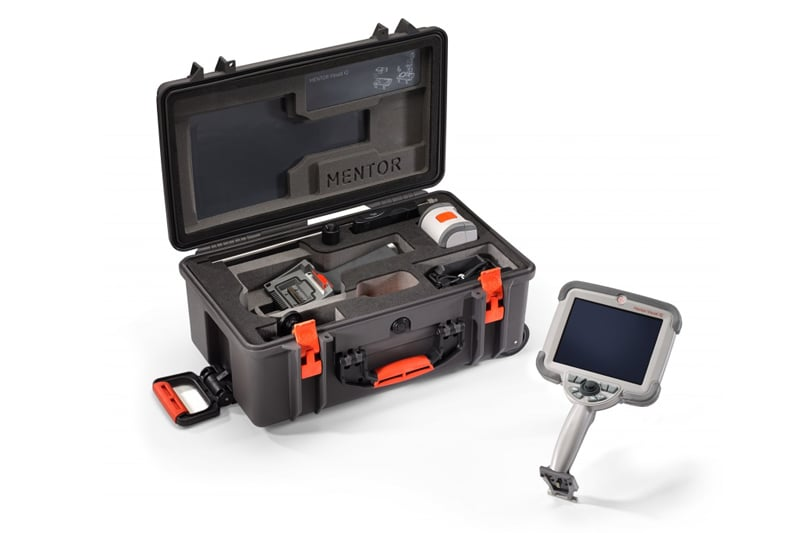 The Mentor Visual iQ is one of the most advanced video borescopes on the market. Thanks to its state-of-the-art 3D Phase Measurement and analysis, the Mentor Visual IQ VideoProbe detects visual indications such as corrosion, blockages and cracking quickly and precisely. Contact Us to find out more about the Mentor Visual iQ or any of our other remote visual inspection rentals, or Request a Quote for the Mentor Visual iQ through our online system.